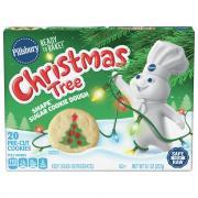 Pillsbury Christmas Tree Sugar Cookie Dough Ready To Bake