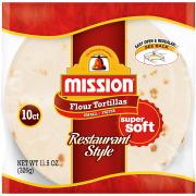 Mission Restaurant Style Fajita Tortillas