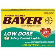 Bayer Low Dose 81 mg Aspirin Regimen