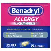 Benadryl Dye Free Liquid Gels