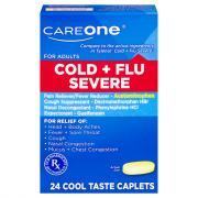 CareOne Cold & Flu Severe Caplets