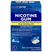 CareOne Nicotine Ice Mint Flavor Gum 4 mg