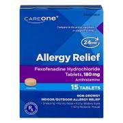 CareOne Allergy Relief Fexofenadine Tablets 180 mg