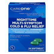 CareOne Nighttime Cold & Flu Softgels