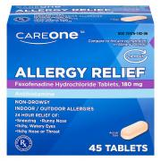 CareOne Allergy Fexofenadine Tablets