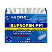 CareOne Ibuprofen Caplets PM 200mg