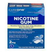 CareOne Nicotine Ice Mint Flavor Gum 2 mg