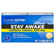 CareOne Stay Awake Caffeine Tablets 200 mg