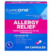 CareOne Allergy Relief Antihistamine Capsules