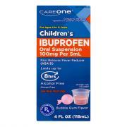 CareOne Children's Ibuprofen Bubble Gum Flavor