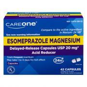 CareOne Esomeprazole Magnesium Acid Reducer Caplets 20 mg