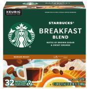 Starbucks Breakfast Blend Medium Roast Ground Coffee K-Cups