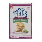 Nabisco Good Thins Potato Spinach and Garlic Crackers