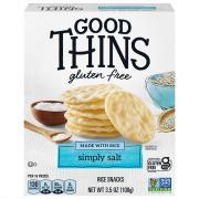 Nabisco Good Thins Simply Salt Rice Snacks