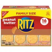 Nabisco Ritz Peanut Butter Cracker Sandwiches Family Size