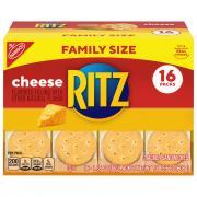 Nabisco Ritz Cheese Cracker Sandwiches Family Size