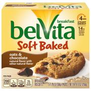 Nabisco BelVita Soft Baked Oats& Chocolate Breakfast Biscuit
