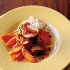 Pineapple Glazed Pork Tenderloins with Carrots