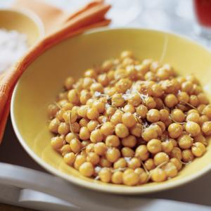 Roasted Chickpeas with Rosemary and Sea Salt