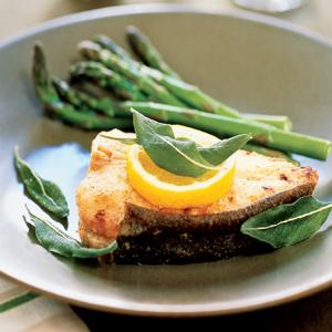 Pan Fried Halibut or Cod with Sage and Lemon