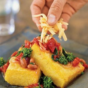 Polenta with Broccoli Rabe and Beans