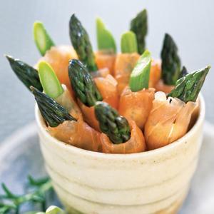 Smoked Salmon and Asparagus Wraps