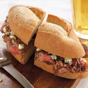 Steak Sandwich with Balsamic Onions