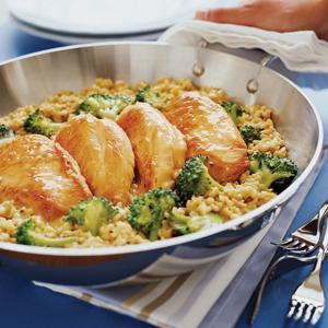 Chicken, Rice, and Broccoli Dinner