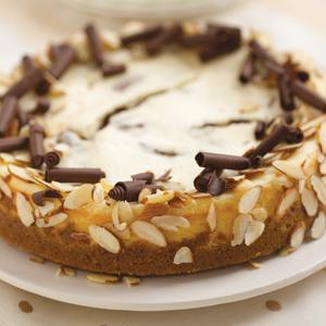 Chocolate Orange Almond Cheesecake