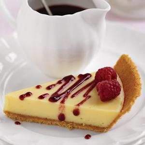 Key Lime Pie with Two Raspberry Coulis