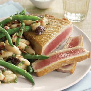 Sauteed Tuna with Nicoise Sauce