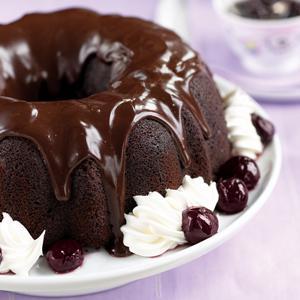 Black Forest Cake w/Cognac Cherry Sauce and Truffle Glaze
