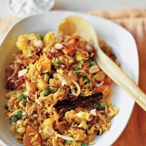 Vegetable Biryani with Simple Raita