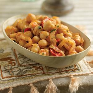Chickpeas in Sherried Onion Sauce