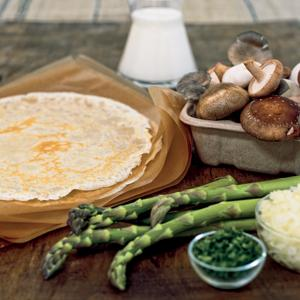 Asparagus and Wild Mushroom Crepes
