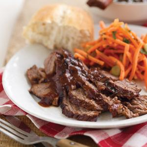 Barbecued Brisket with Kansas City-Style Barbecue Sauce