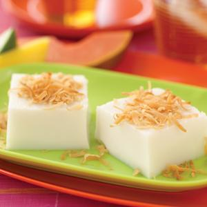 Haupia (Hawaiian Coconut Pudding)