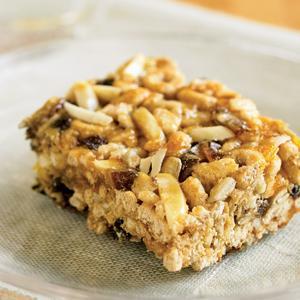 Whole Grain Fruit and Nut Energy Bars