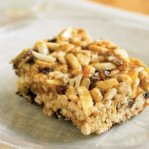 Whole Grain Fruit and Nut Energy Bars
