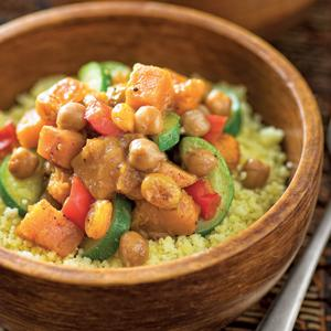 Moroccan Vegetable Stir-Fry with Chickpeas
