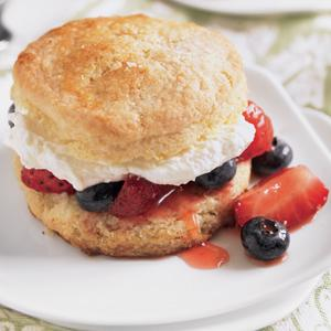 Red, White, and Blue Shortcakes