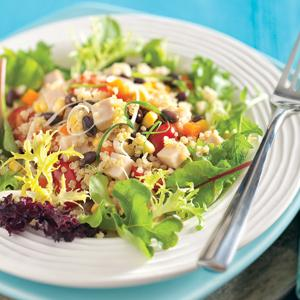 Quinoa, Black Bean, and Smoked Turkey Salad