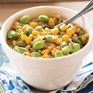 Fresh Corn and Edamame Succotash