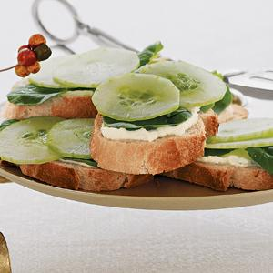 Cucumber Watercress Sandwiches