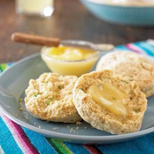 Jalapeno Cornmeal Biscuits with Honey Butter