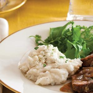 Lighter Blue Cheese Mashed Potatoes