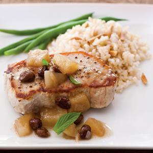 Pork Chops with Fall Pear Chutney