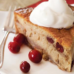 Spiced Pear Cranberry Cake
