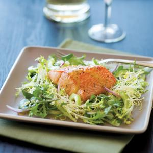 Salmon Watercress Salad with Lemon Vinaigrette