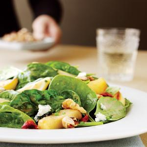 Spinach Salad with Apple Cranberry Vinaigrette